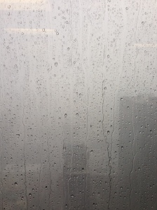 The view from my office--or lack thereof--during the heaviest portion of the rain.