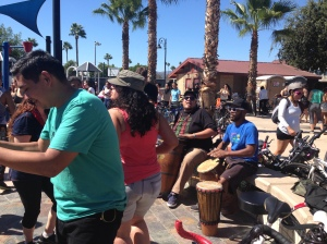 Musicians at Cerritos Park were getting the riders and volunteers dancing!