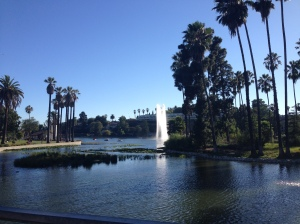 Echo Park Lake--An urban oasis fit for any critical mass ride.