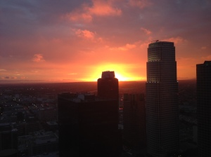 Every evening when I watch the sun set over DTLA from my office window, I am grateful for the incredible display of beauty provided by nature.