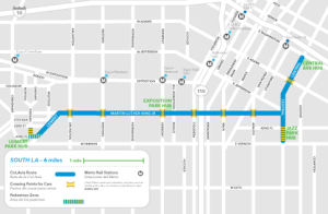 Map of Sunday's route, courtesy of www.ciclavia.org.