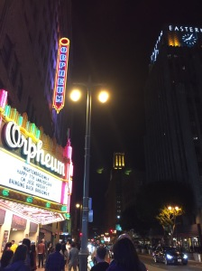 Marquee at the Orpheum Theater