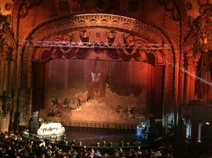The stage at the Historic Los Angeles Theater