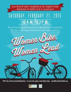 Official flyer for the Women Bike, Women Lead ride