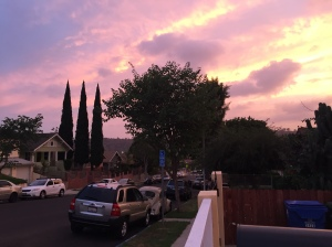 A beautiful sunset from the front yard of my new home.