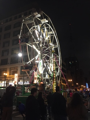The Ferris wheet at Night on Broadway. Photo by Christian Meola.