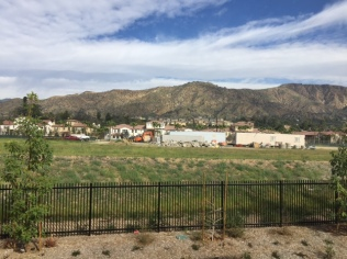 Picturesque views at the APU/Citrus College station--the Gold Line's new end of the line.